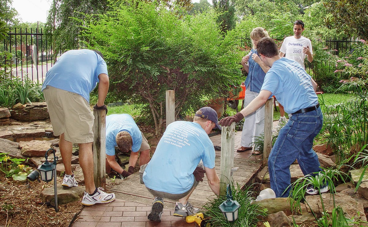AIDS Services of Dallas Cleaning the Garden